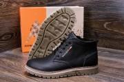 Кожаные мужские зимние ботинки. Харьковская обувь