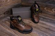 Кожаные зимние мужские ботинки. Черные и коричневые. Харьковская обувь.