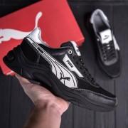 Чоловічі демісезонні ШКІРЯНІ кросівки Puma Anzarun Black