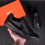 Мужские кожаные кроссовки Nike Black