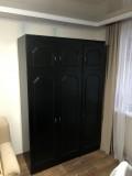 """шкаф для одежды черного цвета от мебельной стенки """"Виктория"""""""